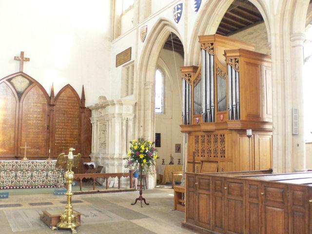 Fotheringhay organ - copyright Mike Todd